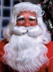 CHRISTMAS -  DELUXE SANTA WIG AND BEARD SET - WHITE -  SANTA CLAUS