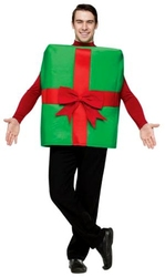 CHRISTMAS -  GIFT BOX COSTUME (ADULT - ONE SIZE)