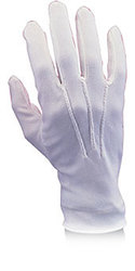 CHRISTMAS -  MEN'S NYLON WHITE GLOVES -  SANTA CLAUS