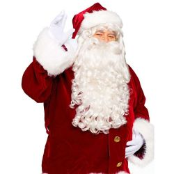 CHRISTMAS -  PROFESSIONAL SANTA WIG AND BEARD -  SANTA CLAUS