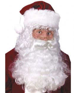 CHRISTMAS -  SANTA BEARD, WIG AND EYEBROWS (ADULT) -  SANTA CLAUS