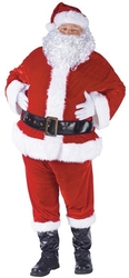 CHRISTMAS -  SANTA CLAUS COSTUME (ADULT - STANDARD - 40-48) -  SANTA CLAUS