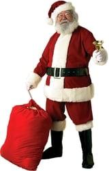 CHRISTMAS -  SANTA CLAUS COSTUME - VELVET (ADULT - XLARGE) -  SANTA CLAUS