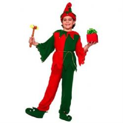 CHRISTMAS -  SANTA'S ELF COSTUME (CHILD)