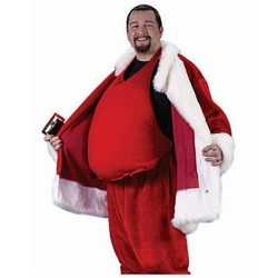 CHRISTMAS -  STUFFED SANTA BELLY -  SANTA CLAUS