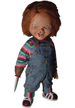 CHUCKY -  TALKING CHUCKY DOLL - MENACING (15 INCH) -  CHILD'S PLAY 2