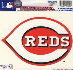 CINCINNATI REDS -  DECAL 5X6 REMOVABLE AND REUSABLE
