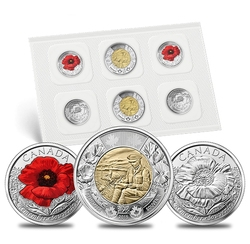 CIRCULATION COINS PACK SETS -  IN FLANDERS FIELDS -  2015 CANADIAN COINS