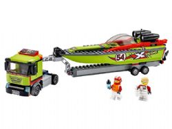 CITY -  RACE BOAT TRANSPORTER (238 PIECES) 60254