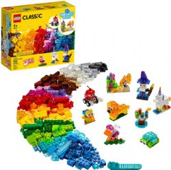 CLASSIC -  CREATIVE TRANSPARENT BRICKS (500 PIECES) 11013