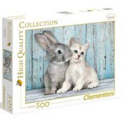 CLEMENTONI -  CAT & BUNNY (500 PIECES)