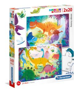 CLEMENTONI -  DINOSAURS 2 IN 1 (2X20 PIECES)