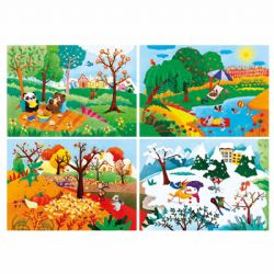 CLEMENTONI -  FOUR SEASONS (4 IN 1 20+60+100+180 PIECES)