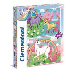 CLEMENTONI -  I BELIEVE IN UNICORNS 2 IN 1 (2X20 PIECES)