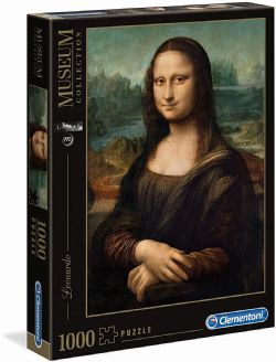 CLEMENTONI -  MONA LISA (1000 PIECES) -  MUSEUM COLLECTION