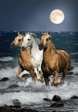CLEMENTONI -  RUNNING HORSES (1500 PIECES)