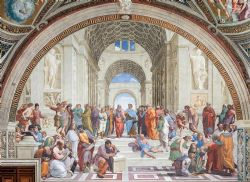 CLEMENTONI -  SCHOOL OF ATHENS (1000 PIECES) -  MUSEUM COLLECTION