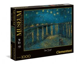 CLEMENTONI -  STARRY NIGHT ON THE RHÔNE (1000 PIECES) -  MUSEUM COLLECTION