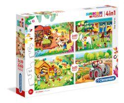 CLEMENTONI -  THE FARM  (2X20 + 2X60 PIECES)