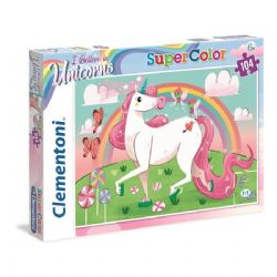 CLEMENTONI -  UNICORN (104 PIECES)
