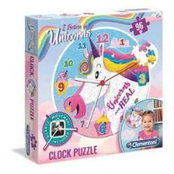 CLEMENTONI -  UNICORN - CLOCK PUZZLE (96 PIECES)