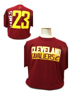 CLEVELAND CAVALIERS -  RED LEBRON JAMES #23 T-SHIRT