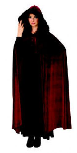 CLOAKS -  BURGUNDY BARONESS CAPE (ONE SIZE)