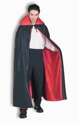 CLOAKS -  DELUXE REVERSIBLE CAPE - BLACK AND RED