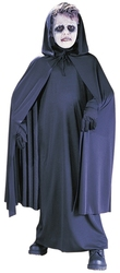 CLOAKS -  HOODED BLACK CAPE (CHILD - ONE SIZE)