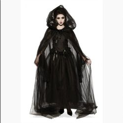 CLOAKS -  HOODED CAPE - BLACK