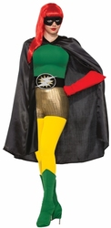CLOAKS -  SUPER HERO CAPE ADULT - BLACK