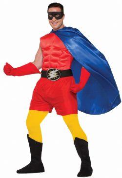 CLOAKS -  SUPER HERO CAPE ADULT - BLUE