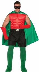 CLOAKS -  SUPER HERO CAPE ADULT - GREEN