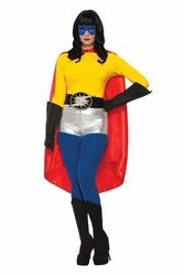 CLOAKS -  SUPER HERO CAPE ADULT - RED