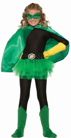CLOAKS -  SUPER HERO GREEN CAPE (CHILD)