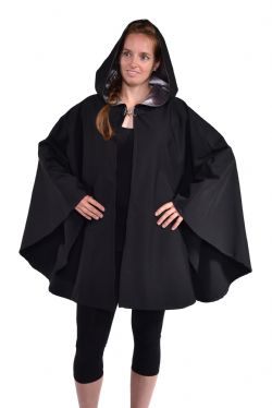 CLOAKS -  WATERPROOF CAPE PONCHO POLYESTER - GRAY (ADULT - ONE SIZE)
