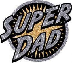 CLOTHING PATCHES -  HEAT TRANSFERS - SUPER DAD