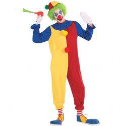 CLOWN -  CLOWN COSTUME (ADULT - ONE SIZE)