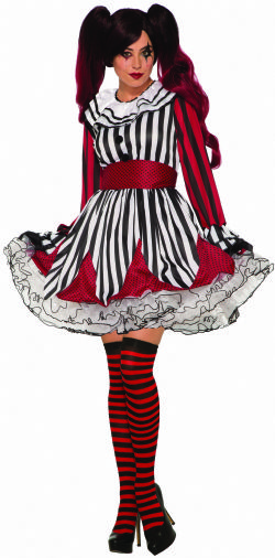 CLOWN -  MISS MISCHIEF THE CLOWN COSTUME (ADULT - ONE SIZE)