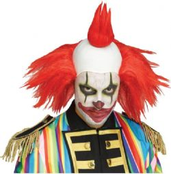 CLOWN -  TWISTED CLOWN WIG - RED (ADULT)