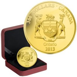 COATS OF ARMS OF CANADA -  COAT OF ARMS OF ONTARIO -  2013 CANADIAN COINS 11