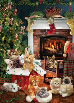 COBBLE HILL -  CHRISTMAS KITTENS (1000 PIECES)