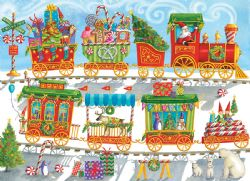 COBBLE HILL -  CHRISTMAS TRAIN (350 PIECES) -  CHRISTMAS COLLECTION