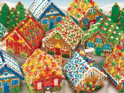 COBBLE HILL -  GINGERBREAD HOUSES (350 PIECES) -  CHRISTMAS COLLECTION