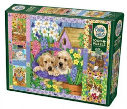 COBBLE HILL -  PUPPIES AND POSIES QUILT (1000 PIECES)
