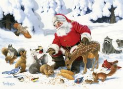 COBBLE HILL -  SANTA CLAUS AND FRIENDS (350 PIECES) -  CHRISTMAS COLLECTION