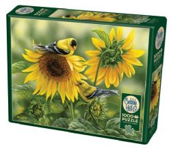 COBBLE HILL -  SUNFLOWERS AND GOLDFINCHES (1000 PIECES)
