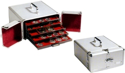 COIN BOXES -  ALUMINIUM COIN CASE FOR 5 STANDARD COIN BOXES