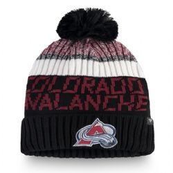 COLORADO AVALANCHE -  BEANIE WITH POMPOM - BLACK