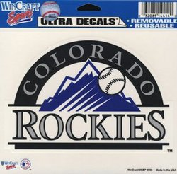 COLORADO ROCKIES -  DECAL 5X6 REMOVABLE AND REUSABLE